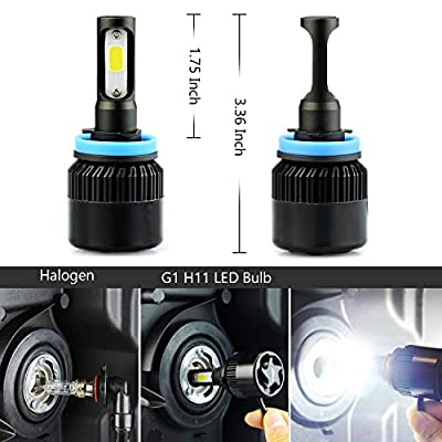 JDM ASTAR G2 CSP Chips H11 H9 H8 All-in-One LED Headlight Bulbs, Xenon White: Automotive