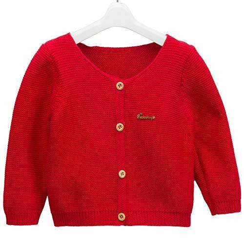 Girl's Knit Long-Sleeved Sweater Children's Woollen Sweater