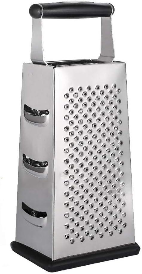 مبشرة صندوق من الفولاذ المقاوم للصدأ ، مجموعة تقطيع من 4 جوانب ، أدوات مطبخ احترافية لتقطيع الأسطح الكبيرة متعددة الأغراض مع قاع مانع للانزلاق ، لخضروات الجبن والزنجبيل