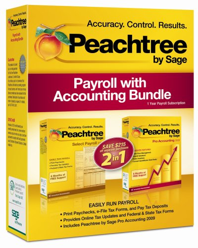 Peachtree by Sage Payroll with Accounting Bundle 2009