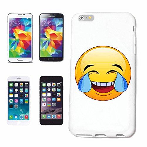 """cas de téléphone iPhone 7 """"LE PRESENT BIEN FAMOUS SMILEY """"SMILEYS SMILIES ANDROID IPHONE EMOTICONS IOS grin VISAGE EMOTICON APP"""" Hard Case Cover Téléphone Covers Smart Cover pour Apple iPhone en blanc"""