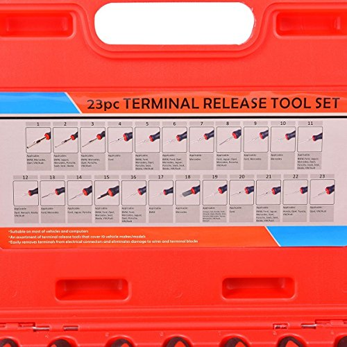 Goplus® 23PCS Universal Terminal Release Tool Kit Set Connector Remover w/ Carry Case by Goplus (Image #3)