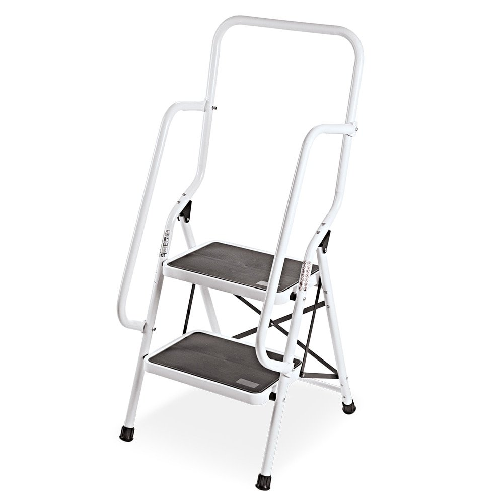 Collections Etc Genius Safety 2 Step Ladder Folding Stool