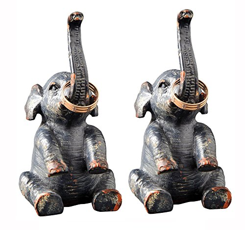Creative Pewter Elephant Holder Inches