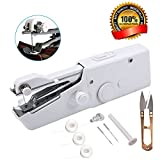 Mini Handheld Sewing Machines, GPSGO Portable Electric Stitch Tool Cover Threads Needles Scissors, DIY Sewing Machine for Home Travel Stitching Clothing