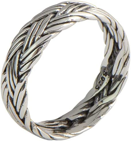 Beydodo Silber 925 Ring für Herren Hochglanzpoliert Rund Kette Freundschaftsringe Ringe Männer Silber