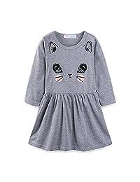 Mud Kingdom Little Girls Dresses Summer Clothes Kitten