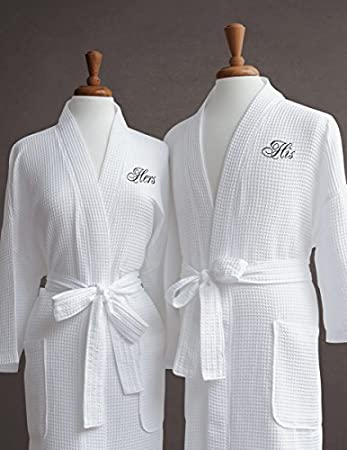 RUSH Ship Included 3 Sizes and Ready for Immediate Shipment; Wedding Orders Welcome PERSONALIZED Waffle Weave Robes Available in 10 COLORS