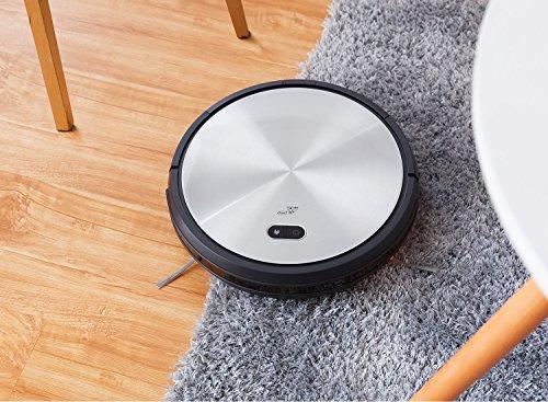 puppyoo wp650 Robot aspirador, aspiración potente, limpieza automática la mando a distancia, auto-recharge para los pelo de animales, alfombra, ...