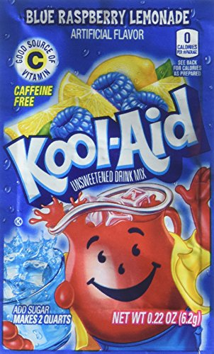(Kool-Aid Twists Soft Drink Mix - Ice Blue Raspberry Lemonade Unsweetened, Caffeine Free, 0.22 oz/envelope (Pack of 15))