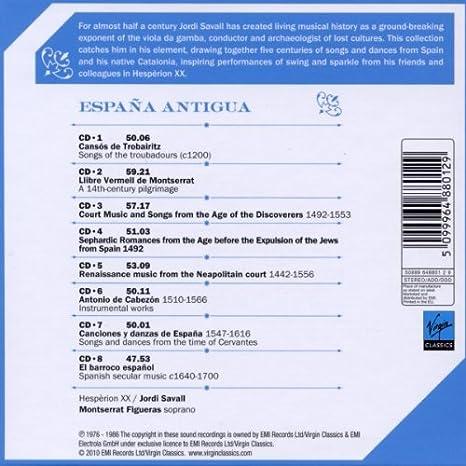 España Antigua: Hespèrion XX, Hespèrion XX: Amazon.es: Música