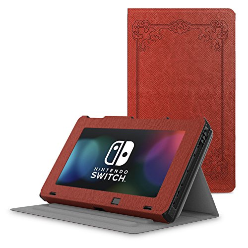 MoKo Case for Nintendo Switch, Protective Slim Folding [Multi-Angle Viewing] Stand Cover, Lightweight & Anti-scratch, for Nintendo Switch Console(2017) - Vintage Style by MoKo