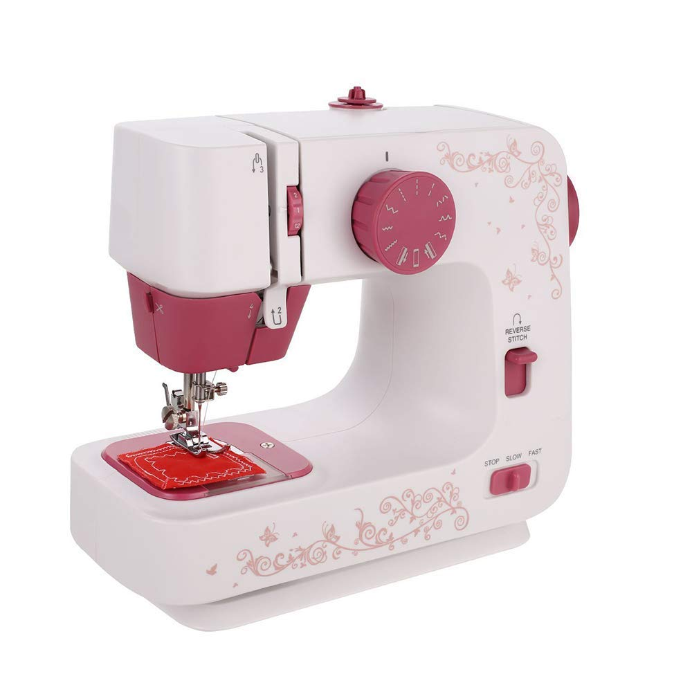 ZYG.GG Household Sewing Machine 12 Stitches Portable Mini Handheld Household 2 Speed Tool Kit Electric Sewing Machine for Thick and Multi-Layer Fabrics by ZYG.GG