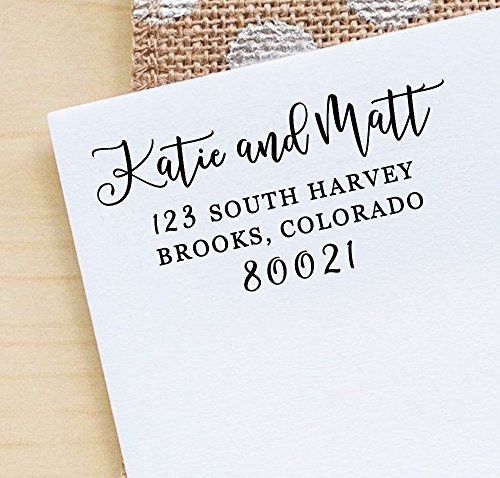 Printtoo Custom Save The Date Rubber Stamp Calligraphy Personalized Wedding Invitation Stamp -