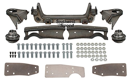 NEW SOUTHWEST SPEED MUSTANG II BOLT-IN FRONT END SUSPENSION CROSSMEMBER KIT FOR 1947-1954 GMC & CHEVY 1/2 & 3/4 TON PICKUP CHASSIS, INCLUDES SPRING TOWERS, CUPS, BOXING PLATES, GAUGE PLATE & HARDWARE ()