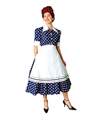5ab61c39a3210 Women's 1950's Lucy Housewife Dress, Small at Amazon Women's ...
