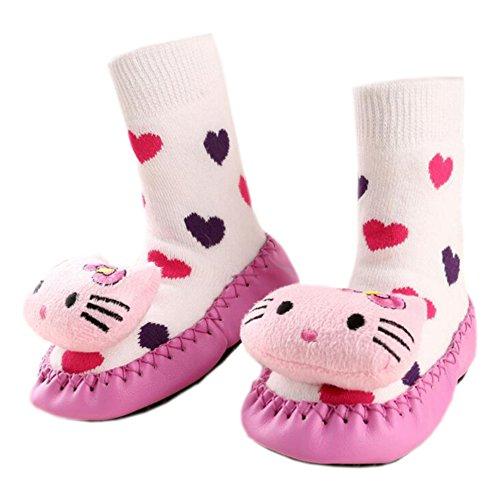 Leap Frog  Anti-slip Floor Socks, Baby Mädchen Krabbelschuhe & Puschen Katze