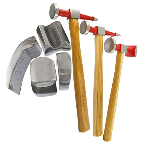 AB Tools-Neilsen Auto Body Repair Kit Panel Beating Hickory Hammers Dollies Shrinking 7pc AN021 by AB Tools-Neilsen (Image #6)
