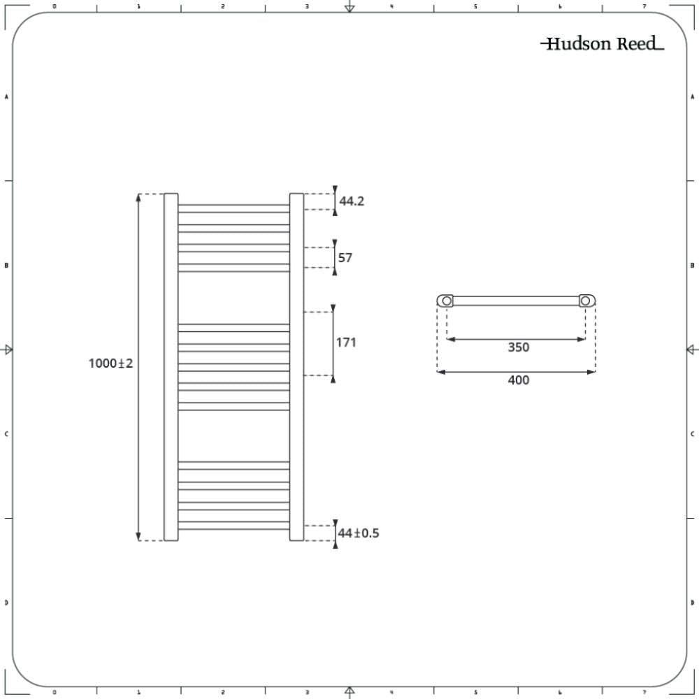 414W Hudson Reed Neva Scaldasalviette Misto Moderno Design Elettrico /& Idraulico 803 x 500mm Termoarredo Bagno di Design Antracite