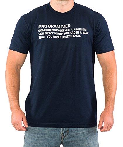SignatureTshirts Men's PROGRAMMER Funny Computer Nerd T-shirt L Navy Blue