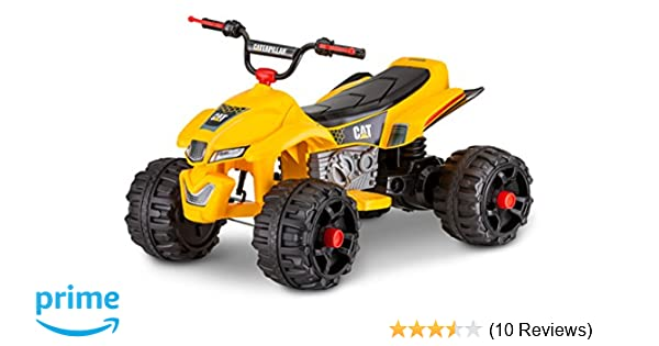 Kid Trax Caterpillar 12V Power Quad Ride On, Yellow