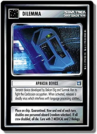 Amazon.com: Star Trek CCG 1E DS9 Deep Space Nine aphasia ...
