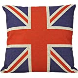Luxbon British Vintage Style Union Jack Flag Throw Pillow Case, Pillowcase