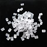 TOAOB 144 pcs Deluxe Style Safety Backs Crystal Clear Rubber Earring Wire Stopper
