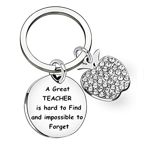 Teacher Gifts Key Chain Graduation Key Ring Teacher's Day Gifts A Great Teacher is Hard to find and Impossible to Forget