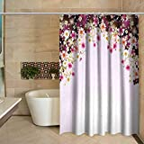 Pink Mossy Oak Shower Curtain TimBeve Shower Curtain Floral,Daisy Bouquet Botany Petals with Butterfly Wedding Valentines Romance Design,Pale Pink Purple Classic Shower Curtain, W54 x L78