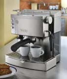 DeLonghi Stainless Steel Pump Espresso Maker with