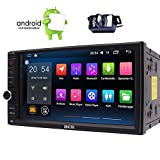 Backup Camera+ 7 Inch Car Radio GPS Navigation 2 Din Bluetooth Car Stereo In Dash Touchscreen Android 6.0 1080P Video Audio Receiver + WiFi + External Micro + Remote