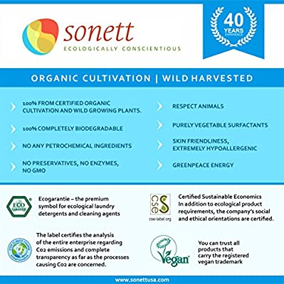 Sonett Natural Hand Soap pure plant-based oils and essential oils from certified organic cultivation, Rose, Lavender, Calendula & Citrus, 10 Ounce (6-Pack)