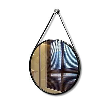 LEI ZE JUN UK Nordischer Eitelkeits-Spiegel-Wand-Dekorations-Badezimmer-Seil-Spiegel-einfacher Verfassungs-gro/ßer runder Spiegel Wandspiegel