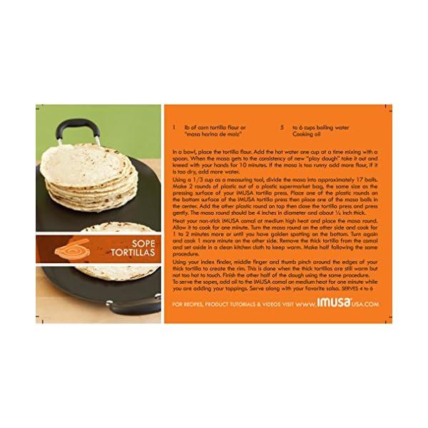 Black IMUSA USA VICTORIA-85008 Cast Iron Tortilla Press 8-Inch