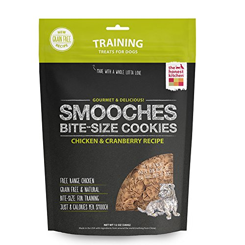 - Honest Kitchen Smooches: Natural Grain-Free Chicken & Cranberry Dog Training Treat Cookies  12 oz - SMO12