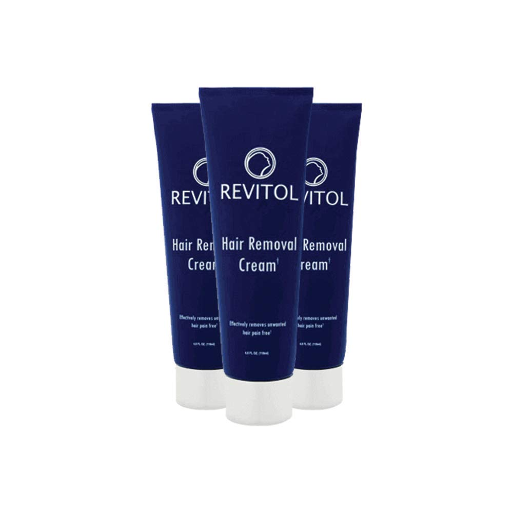 Revitol Hair Removal Treatment Cream - Remove Unwanted Hair Gentle and Fast - 3 Pack