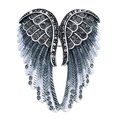 (Szxc Jewelry Women's Crystal Angel Wings Pin Brooches Pendants)