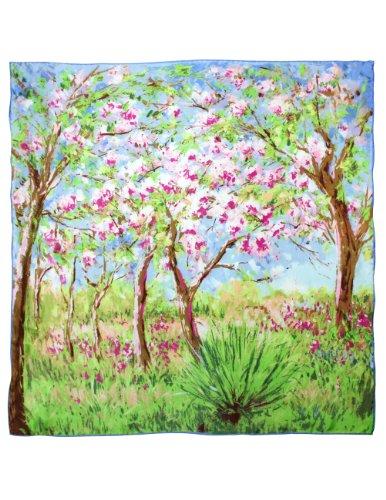Dahlia Women's Square Silk Scarf - Claude Monet's Paintings
