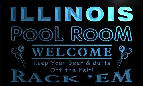 ol Room Rack 'em Welcome Bar Beer Neon Light Sign (Illinois Neon Sign)