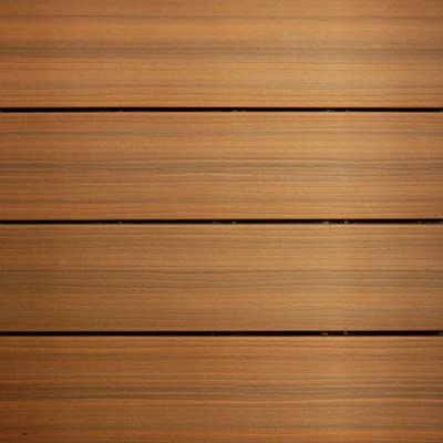 NewTechWood QD-PK-TK UltraShield 12-Inch x 12-Inch Peruvian Composite Quick Deck Tile, Teak
