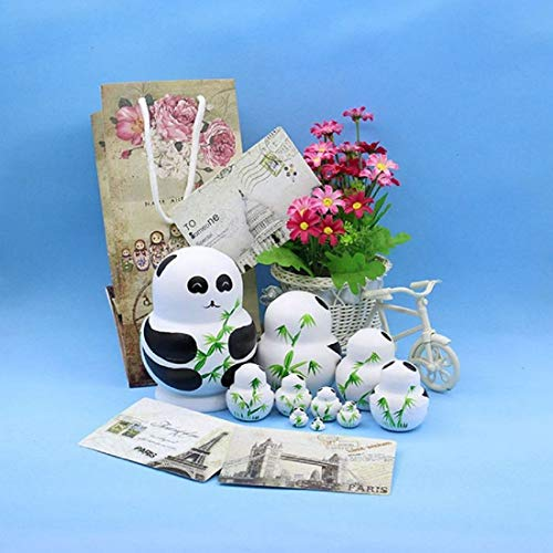 LK King/&Light 10pcs Pandas Russian Nesting Dolls New