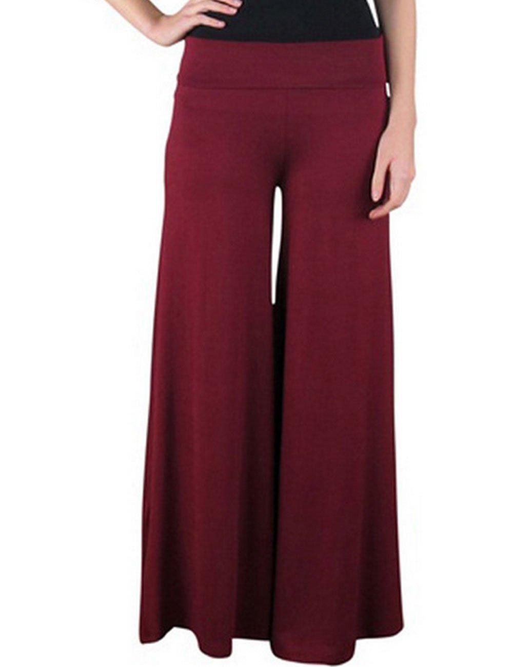 DDSOL Women's Modal Yoga Wide Leg Pants Belly Dance Fitness Pilates Trousers
