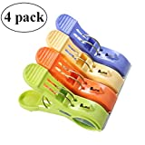 Marrywindix Set of 4 Beach Towel Clips in Fun Bright Colors - Keep Your Towel from Blowing Away,Easy to Use