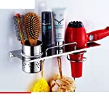 Hair Dryer Holder,Hair Dryer Shelf,Hair Blow Dryer Holder, stainless steel hair dryer rack Bathroom racks Wall mount hair dryer Storage shelf Hair dryer-B