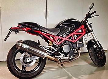 Ducati Monster 600 620 695 750 900 1000 Silmotor Slipon De Carbono
