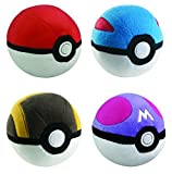 Poke Ball Collection 4pc Complete Plush Set - PokeBall GreatBall UltraBall MasterBall 5 inch Plushes (discontinued by manufacturer)