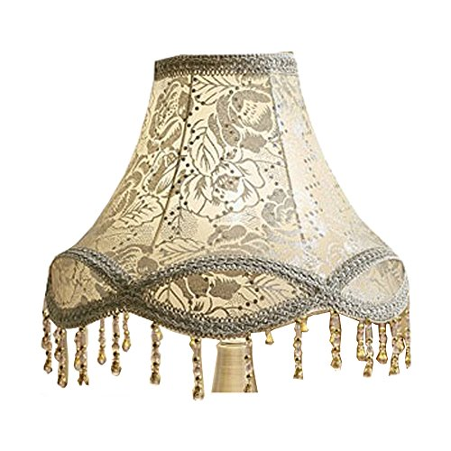 - Eastlion Creative Jacquard and Bead 30cm Retro Palace Pendant Handmade Pendant lampshade for Table Lamps,Floor Lamps,Wall Lamps,Silver Rose 15x30x21cm