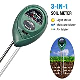 Cheap I2USHOP Soil pH Meter, 3-in-1 Soil Tester Moisture Meter, Light and PH Acidity Tester, Plant Soil Tester Kit, Great For Garden, Farm, Lawn, Indoor & Outdoor (No Battery needed)