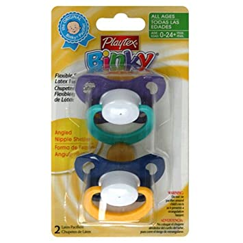 Amazon.com : Playtex Playtex Baby Binky Flex Angled Ortho Latex ...